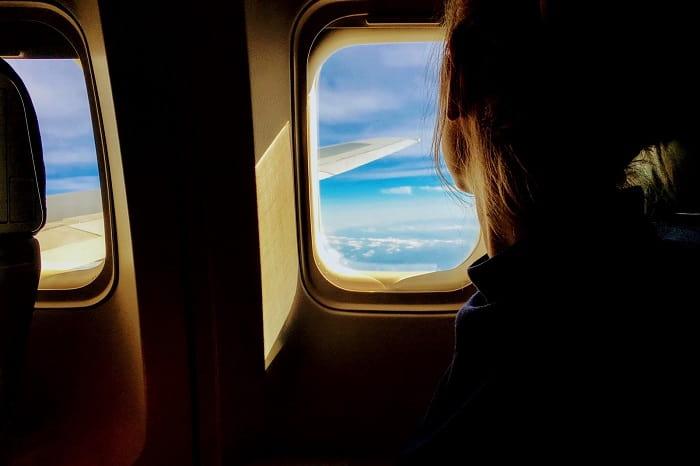 Passenger sitting on window seat